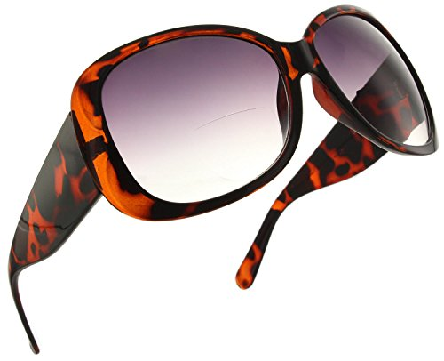 (Fiore Jackie O Bifocal Reading Sunglasses Readers for Women [Tortoise, 2.25])