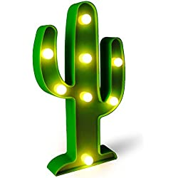 Cactus Light Cactus Lamp Cactus Party Decorations Led Lights for Room Cactus Night Light Battery Operated for Party Supplies-Wall Decoration for Kids' Room,Living Room,Bedroom