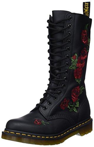 Dr. Martens VONDA Embroidery Black 12761001, Stivali donna Nero (Schwarz (Black))
