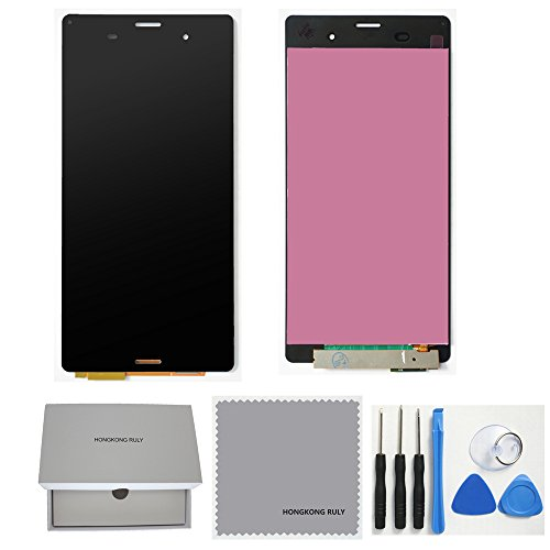 TheCoolCube Full LCD Display Touch Screen Digitizer Assembly Replacement for Sony Xperia Z3 D6603 D6643 D6653 L55u L55t with Free Tools (Sony Xperia Z3 Screen Replacement)
