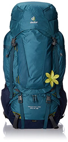 Deuter AirContact 65 + 15 SL - Trekking Backpack with Daypack, Denim/Midnight