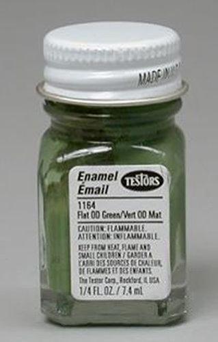 Testor's 1164TT 1/4 Oz Green Flat Enamel Hobby Paint