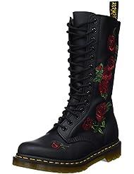 Dr. Martens Womens 14-Eye Vonda Casual Boot, Black