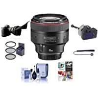 Canon EF 85mm f/1.2L II USM AutoFocus Lens Kit, USA - Bundle with 72mm Filter Kit, Lens Cap Leash, Cleaning Kit, FocusShifter DSLR Follow Focus & Rack Focus, Flex Lens Shade, Pro Software Package