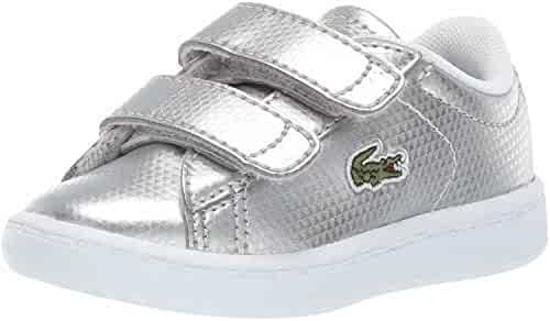 ed624de55 Lacoste Carnaby Evo 119 6 Silver Synthetic Infant Trainers Shoes