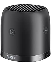 AUKEY Mini Bluetooth Speaker with FM Radio, Micro SD Slot, Portable Wireless Speaker with Enhanced Bass, Integrated Mic, Metal Case and 3.5mm Audio Input