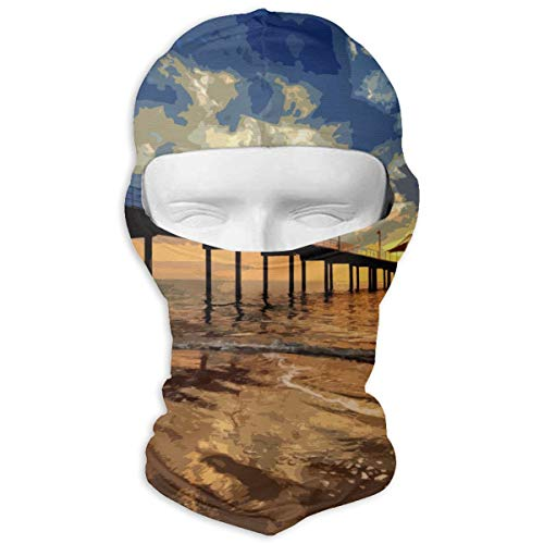 Sunset Beach Pier Balaclava Full Face Mask Neck Warmer For Halloween Motorcycle Bike Outdoor Hiking Snowmobile -