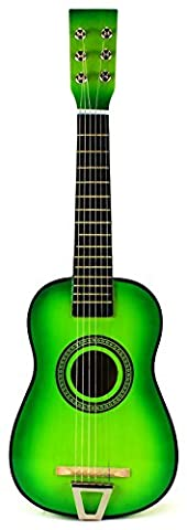 VT Fun Factory Classic Acoustic Beginners Children's Kid's 6 Strings Toy Guitar Instrument w/ Guitar Pick, Extra Guitar String (Light (Acoustic Classic)