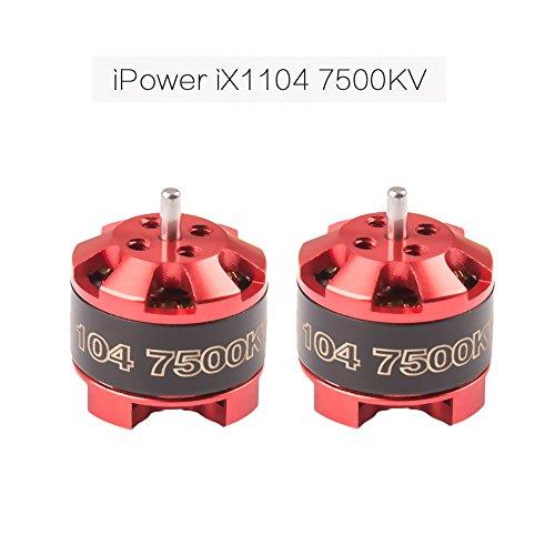 iPower Motor 2pcs iX1104 7500KV FPV Racing Brushless Motor for FPV 60-110 Micro Drone Quadcopter Like as Torrent 110 iX2 Stretch