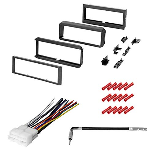 CACHÉ KIT2057 Bundle with Complete Car Stereo Installation Kit Compatible with 1998-2002 Chevrolet S-10 Pickup - in Dash Mounting Kit, Harness, Antenna for Single Din Radio Receiver (4 Item)