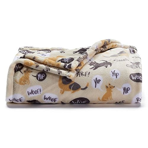 The Big One Super Soft Plush Throw (Dogs) (Throw One Blanket Big The)
