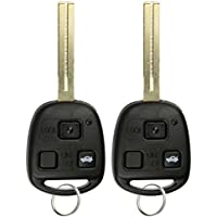 KeylessOption Keyless Entry Remote Control Car Key Fob Long Blade Replacement for HYQ1512V 4C (Pack of 2)