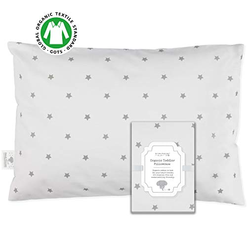 Toddler Pillowcase - 100% GOTS Certified Organic Cotton - Hypoallergenic Safe...