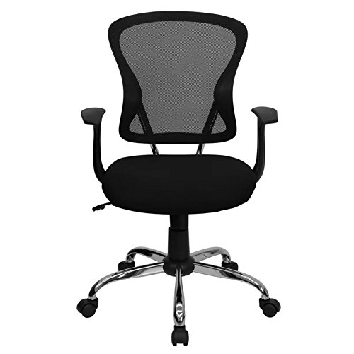Clay Mid-Back Mesh Desk Chair, Mesh Office Chair (Black) from Symple Stuff