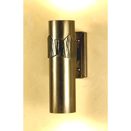 meyda tiffany Custom iluminación 50765hierro montaña 2-Light candelabro de pared, acabado de cobre antiguo