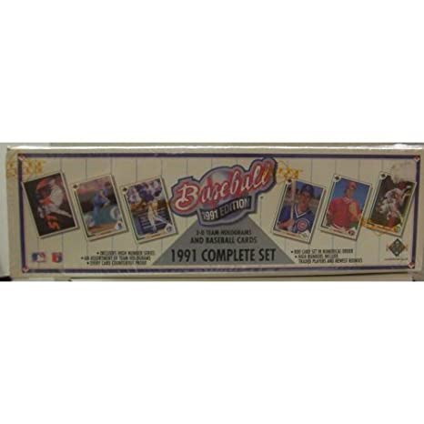 1991 Upper Deck Mlb Baseball Cards Complete Factory Set 800 Cards