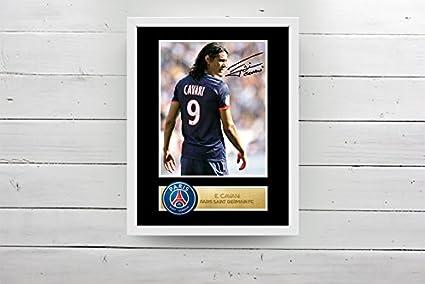Saint Cavani Photo d/édicac/ée encadr/ée Paris Saint-Germain FC