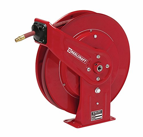 Reelcraft 7840-OLP 1/2'' x 40' Spring Retractable Hose Reel, 300 PSI w/ Hose by Reelcraft