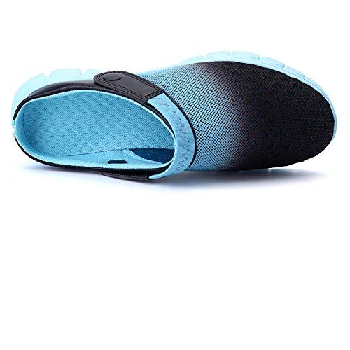 Femmes Hommes Bleu Mesh Respirant Aqua Pantoufles Beach Unisexe Antidérapantes Sandals HangFan Marche OExqnBWf