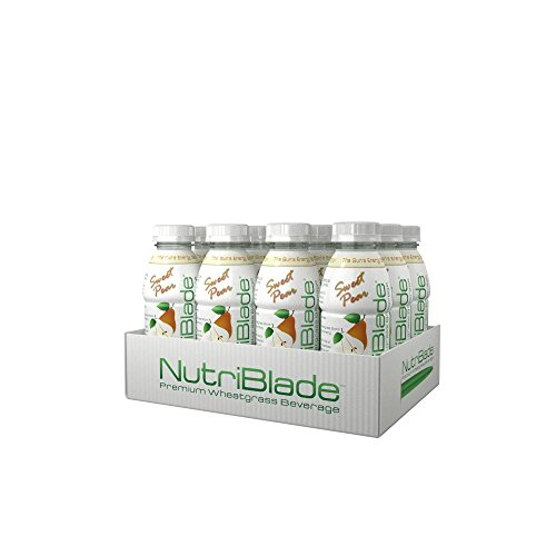nutriblade Organic Wheatgrass Beverage: Sweet Pear - Five Shots of Wheatgrass per Bottle: Certified Organic by USDA, Great Taste, Convenient, Superfood Nutrition - #1 in Ready to Drink Wheatgrass (Wheat Grass Juice Frozen compare prices)