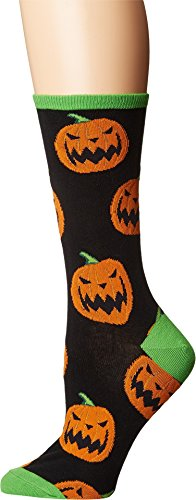 Socksmith Women's Halloween Pumpkins Black One Size (Socks Pumpkin)