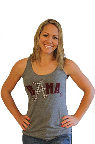 Tough Little Lady NCAA Women's Alabama Shirt with Bama Graphic Print on a Tank by Womens; USA,Tank, XL
