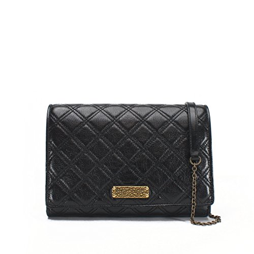 - Marc Jacobs Baroque All in One Clutch/Crossbody Convertible Bag, Black Brass