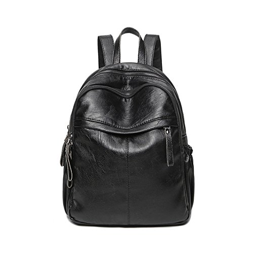 Backpack Bag Bag Shoulder Black Simple College Fashion Travel Backpack Bag Ladies Casual Joker xZFw6zqY