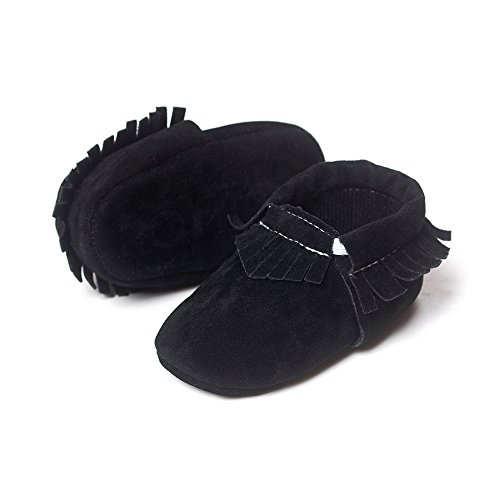 a4bb3a8b6b8 Kuner Baby Boys Girls Tassel Soft Soled Non-Slip Crib Shoes Moccasins First  Walkers