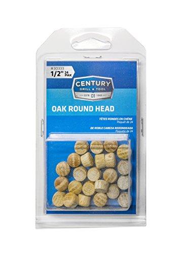 Century Drill and Tool 30333 Oak Round Head Wood Plug, ()