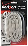GE TL96176 12 Foot Coil Phone Cord (Almond)