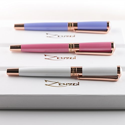 Fountain Pens Set Fine Nib Elegant with Case and Modern Ink Refill Converter for Signature Writing - CASHMERE WHITE -You Get FREE Gift eBook Luxury Pen 3 Amazing Color Options 100% Photo #5