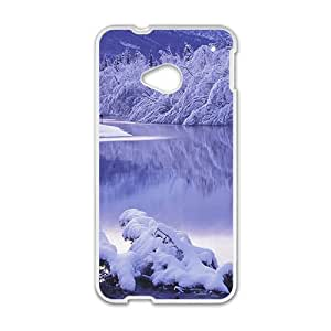 Beautiful winter scenery durable fashion phone case for HTC One M7