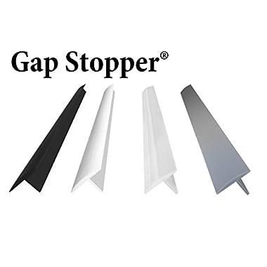 Original Gap Stopper Black, Professional Grade, Heavy 7.2 oz Silicone, Set of 2, Covers Gap between Stove & Countertop