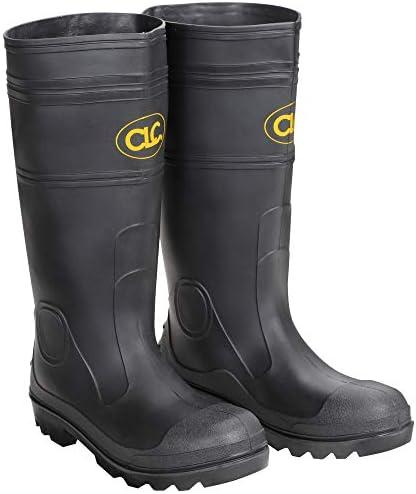 CLC Custom Leathercraft Rain Wear R23008 Over The Sock Black PVC Men's Rain Boot, Size 8