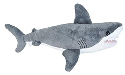 Wild Republic Great White Shark Plush Stuffed Animal Toy, Gifts for Kids, Cuddlekins