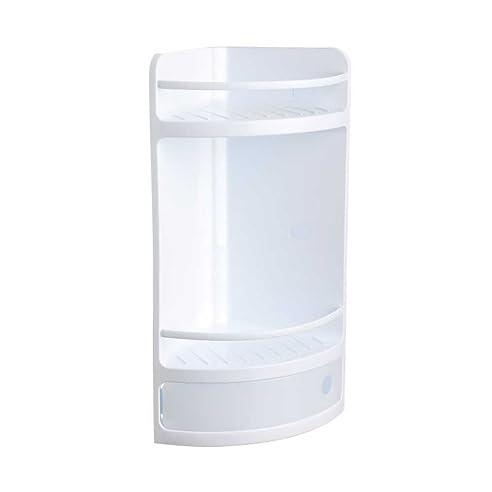 eckregal dusche duschregal universal badregal badablage ohne bohren mit befestigungs kit wei weiss ablage - Seifenablage Dusche Ohne Bohren