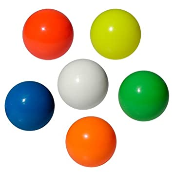 Play - Pelotas para malabares (62-100 mm) amarillo Talla:70 mm ...