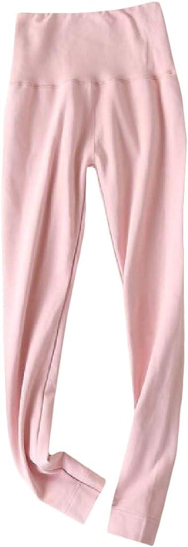 Hajotrawa Womens Thermal Underwear Bottom Fleece Stretchy Legging Johns