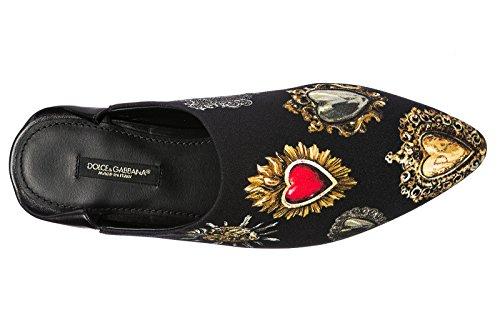 Dolce & Gabbana Damesslippers Sandalen Zendaya Zwart
