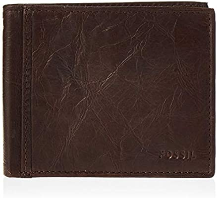Fossil Men/'s Ingram RFID Bifold with Flip ID Brown Wallet ML3784200