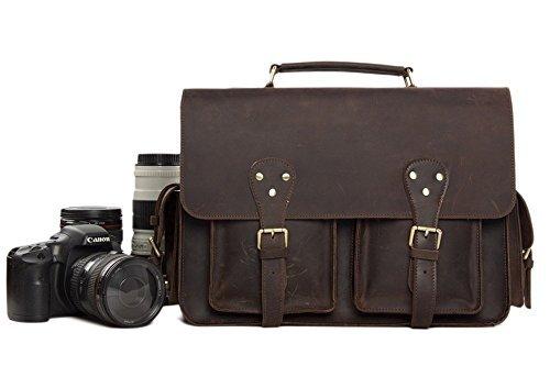 Jellybean Gorilla手作り本革DSLRカメラバッグクロスボディバッグSLRカメラバッグメンズハンドバッグ B01GYLSV8G