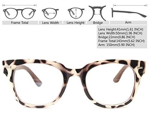 Real Bamboo Wood Temples Eyeglasses Frames Men Women Retro Spectacle Wooden Arm Foot Eyewear (BEIGE LEOPARD 10382)