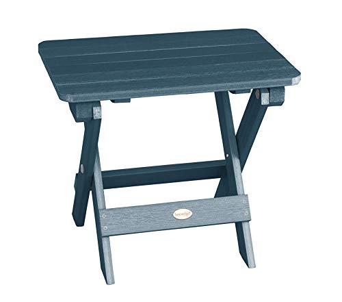 Highwооd Patio Outdoor Garden Premium Side Table, Nantucket Blue ()