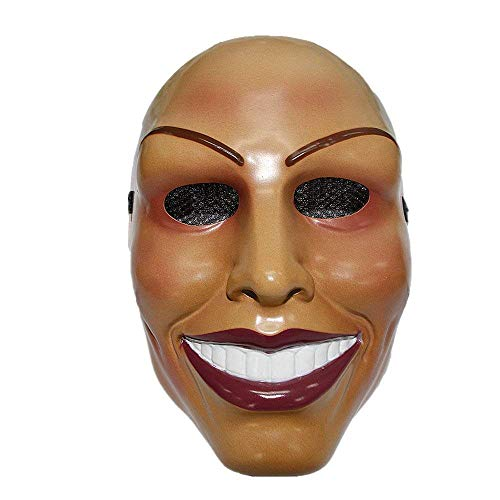The Purge Smile Mask (The Purge Mask Smiling Female Face Design Halloween Costume Fits Men and)