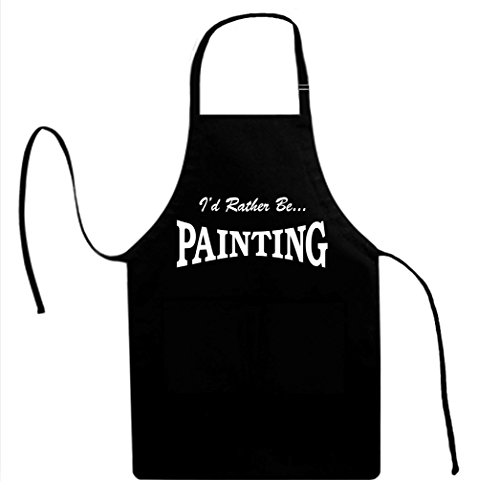 Signature Depot I'd Rather BE Painting Funny Unisex Adult Novelty Apron ()