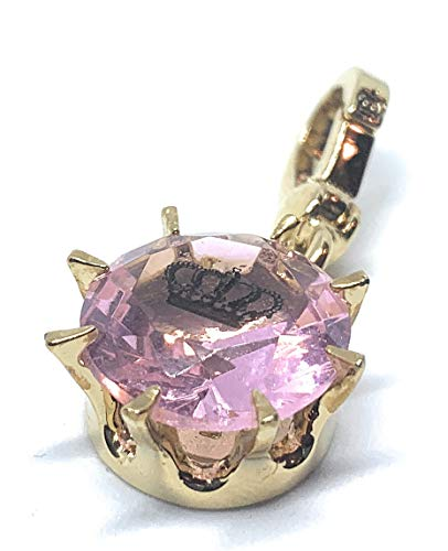 Juicy Couture - Pink Solitaire Gem with Embedded Crown Charm