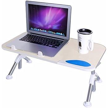 Dinger Adjustable Laptop Table Desk, Portable Standing Desk, Notebook Stand  Reading Holder For Couch