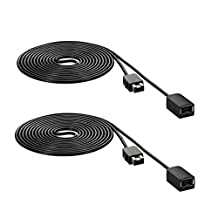 FBApayipa 2pcs Black 1.8M 6ft Extension Cable for Nintendo NES Classic/Mini Edition Controller and Wii Nunchuck and Wii U Classic Controller Extension Cords Extender Gamepad
