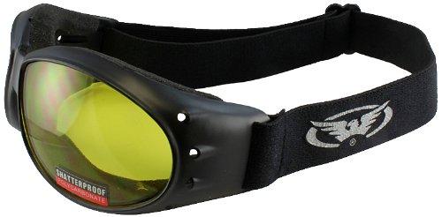 Global Vision Eliminator Motorcycle Goggles (Black Frame/Yellow Lens)